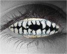 Skeletal Teeth Contact Lenses